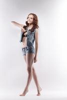 Image of smiling teenage girl posing on casting