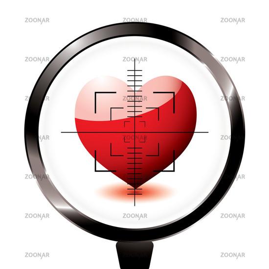 Photo love heart riffle target Image #1078159