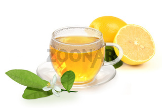 Hot lemon for a cold