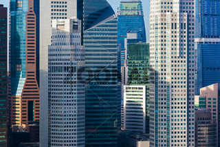 Modern skyscrapers at Singapore
