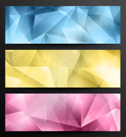 Abstract Crystal Banners