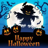 Happy Halloween sign thematic image 4