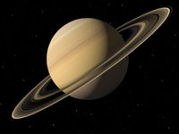 Planet Saturn done with NASA textures