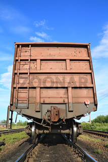 cargo railway coach