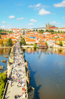 Aerial overview of Prague