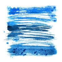 Blue expressive brush strokes