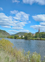 Wine Village of Dieblich at Mosel River in Mosel Valley,Rhineland-Palatinate,Germany