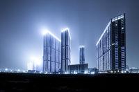 modern buildings in modern city