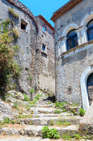 Ruins of the original settlement of Maratea. italy