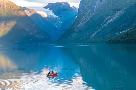 Beautiful landscape in Loen in Norway