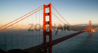 Panoramic Golden Gate Bridge San Francisco Marin County Headlands