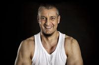dark smiling man portrait