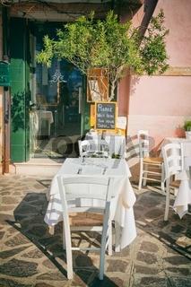 Small romantic seating in Italian Venice