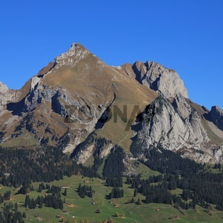 Mount Altmann, mountain of the Alpstein range, Switzerland.