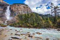 The Yoho National Park in the Rocky Mountains
