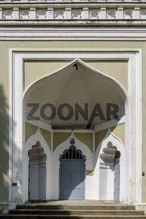 Eingangsportal der Wilmersdorfer Moschee in Berlin