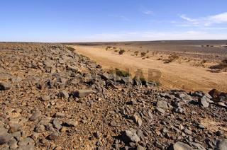 m Wadi Mathendous, Libyen