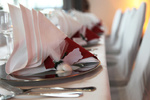 Nahaufnahme -  exklusive Tischdekoration -