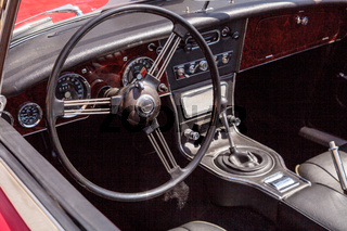 Red 1967 Austin Healey 3000