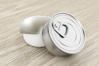 Two tin cans