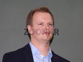 Christian Franke Bündnis 90- Die Grünen Landesvorsitzender von Sachsen-Anhalt während der Podiumsdiskussion zum Thema EU - Türkei - Abkommen am 26.09.2016  in Magdeburg