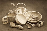 folk wood craft from Poland still life