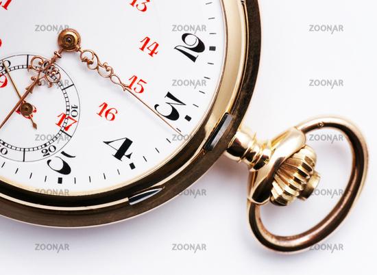 Golden Pocket Watch - close-up