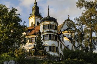 Kloster auf dem Kreuzberg, Pleystein in der Abendsonne