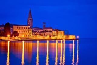 Town of Porec coast evening view