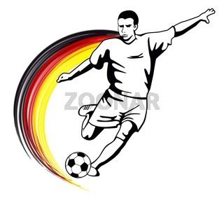 Fußballmotiv Deutschland schwarz rot gold