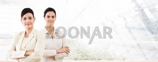 Business banner - two businesswomen