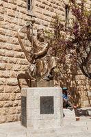 King David statue in Jerusalem