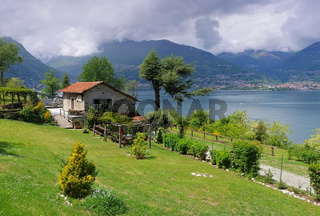 Comer See kleines haus am See - Lake Como, Lombardy, small house on Italian Lakes