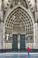 The entrance to Cologne Cathedral. Germany