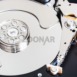 disassembled internal hard disk drive