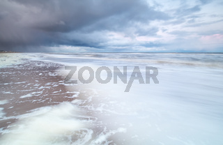 stormy coast by North sea