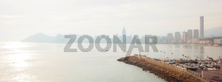 view from the city of Benidorm, Costa Blanca,