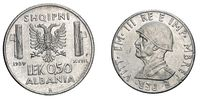 fifty 50 cents LEK Albania Colony acmonital Coin 1939 Vittorio Emanuele III Kingdom of Italy, World war II