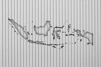 Karte von Indonesien auf Wellblech - Map of Indonesia on corrugated iron
