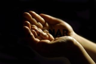 worshiping hands