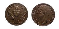 ten 10 cents Lire Copper Coin 1936 Empire Vittorio Emanuele III Kingdom of Italy