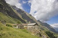 mountain village in Gran Paradiso area