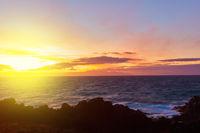 Sundown in Tenerife Island