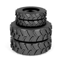 Front and rear tractor tires