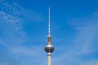 Tv tower, Berlin Germany  isolated on blue sky
