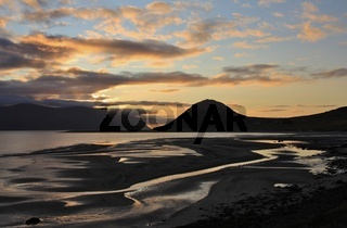 Late summer evening in the westfjords of Iceland.