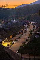 Ouchujuku Village sunset Fukushima Japan
