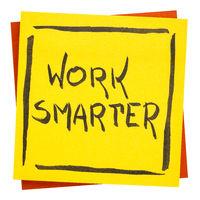 work smarter inspiraitonal reminder note