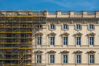 Scaffolding on  construction site of the Berliner Stadtschloss ( City Palace )   in Berlin
