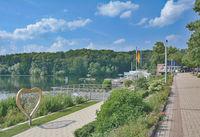 Promenade of Bad Malente-Gremsmuehlen in Holstein Switzerland,Schleswig-Holstein,Germany